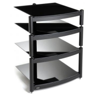 Atacama EQUINOX RS Single Shelf Module Hi-Fi - 195mm Black/Piano Black